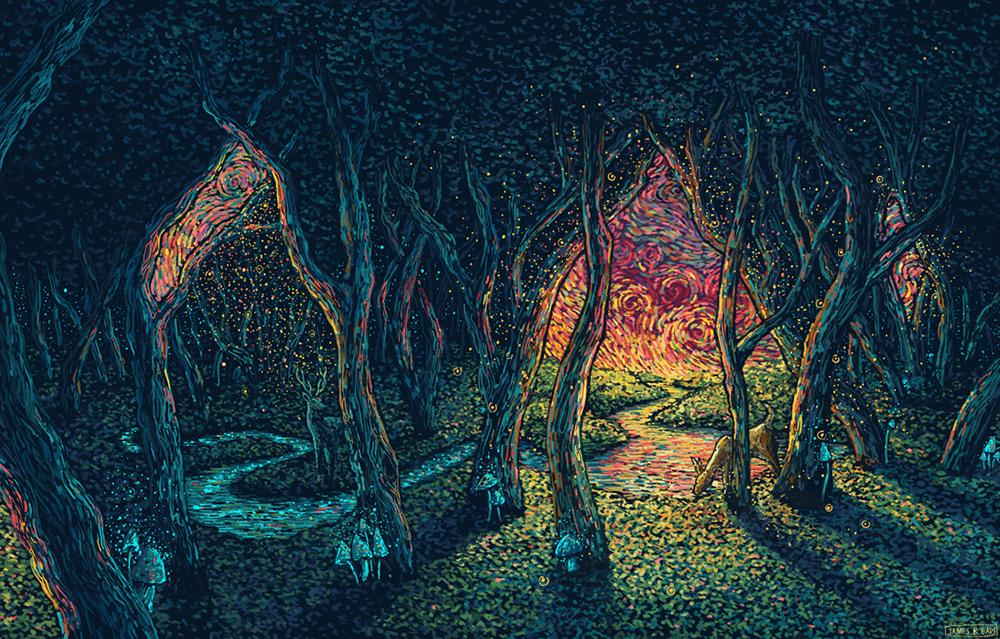 I quadri psichedelici e naturalistici di James R. Eads