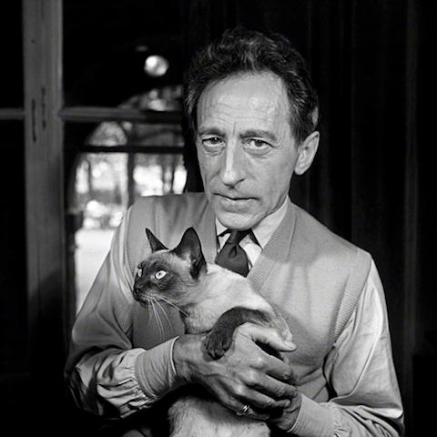 Jean Cocteau con Karoun