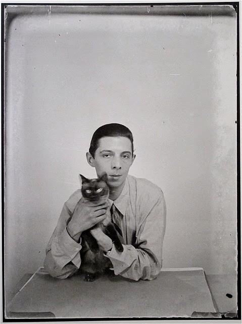 Man Ray e il suo gatto siamese