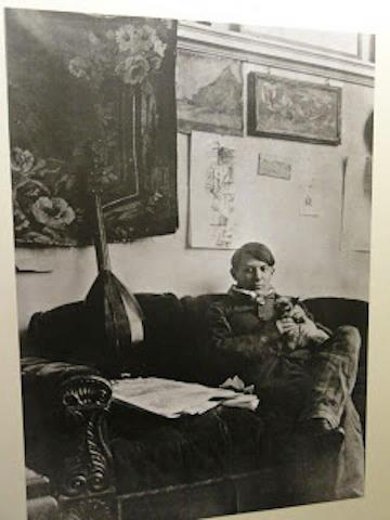 Pablo Picasso e il gatto Minù