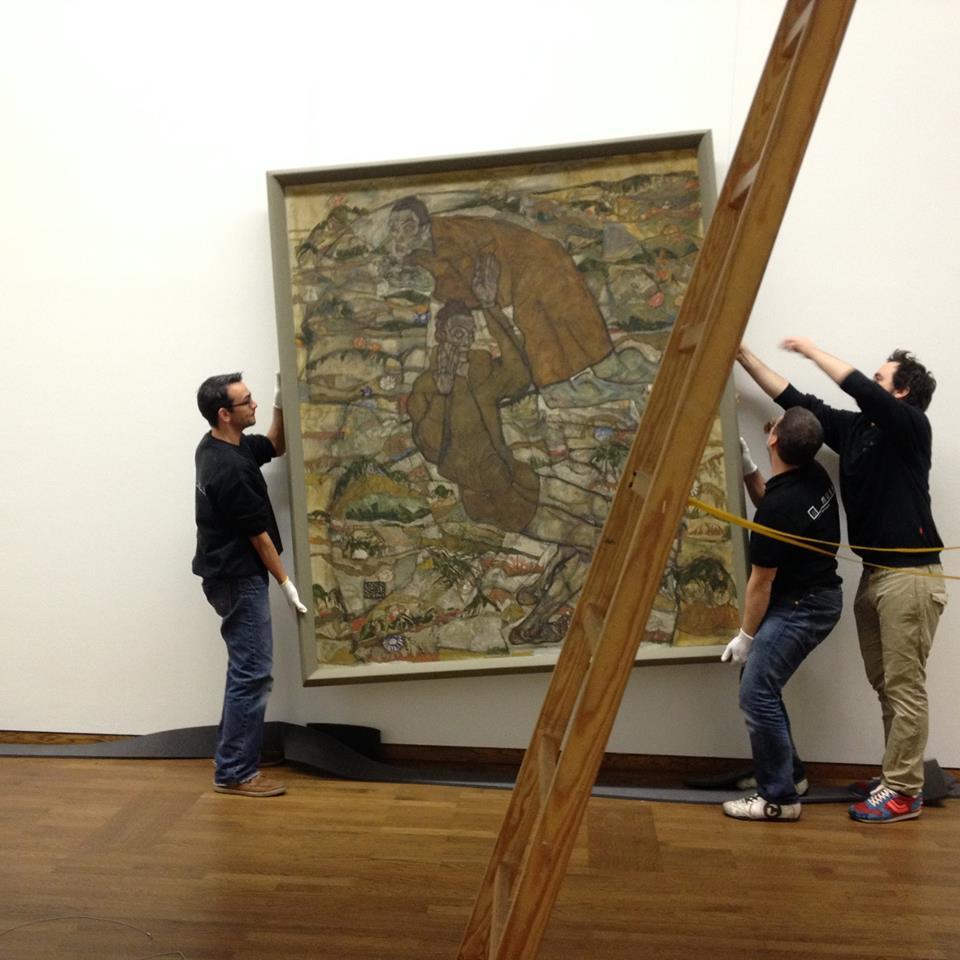Tutto (quasi) pronto per l'inaugurazione di Schiele al Leopold Museum (2015)