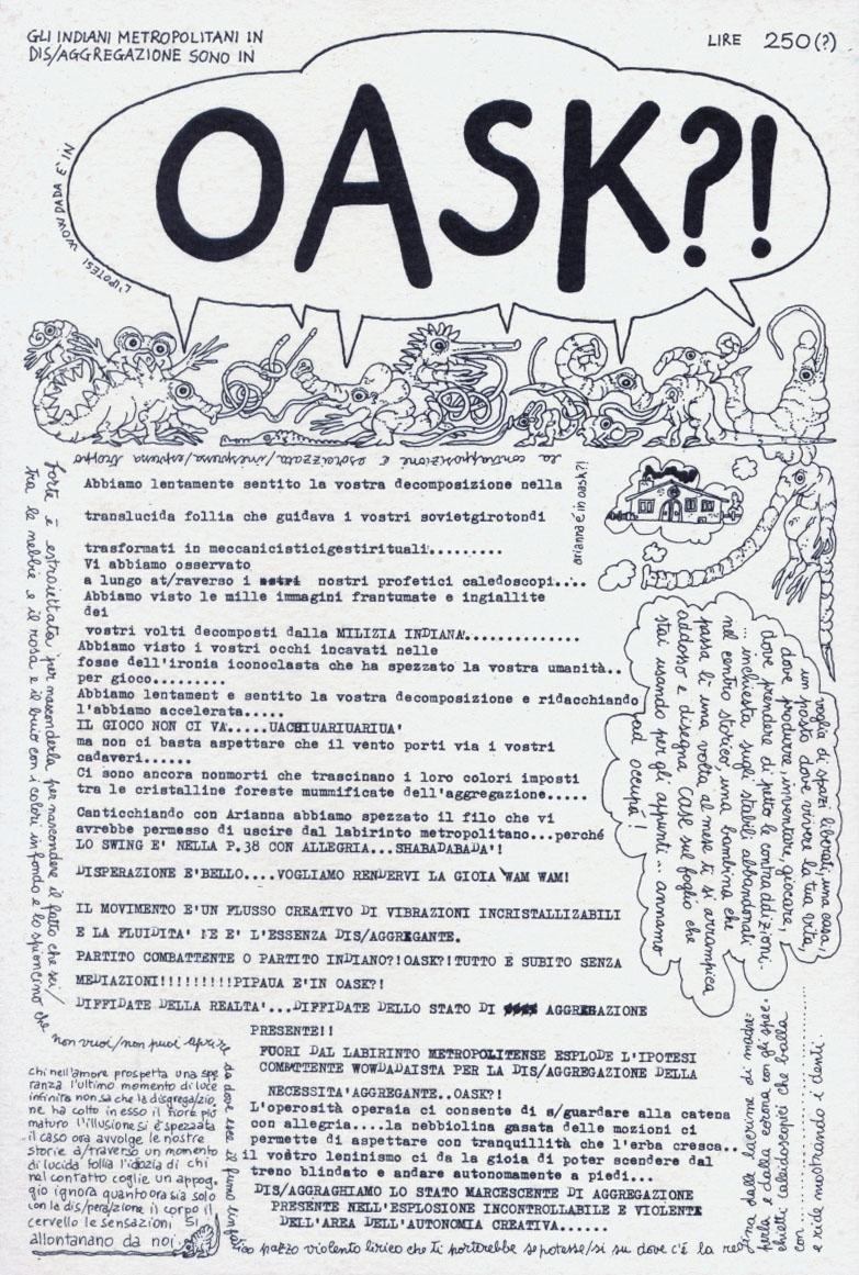 """Oask?!"", Roma, 1977"