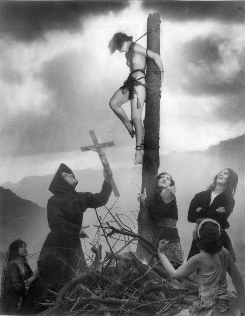 23_Staked Witch_1927_william mortensen