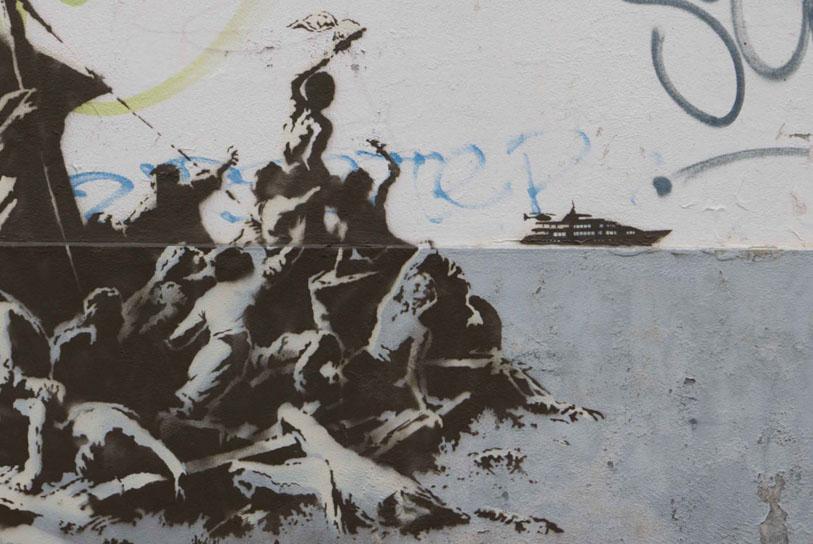 Banksy a Calais