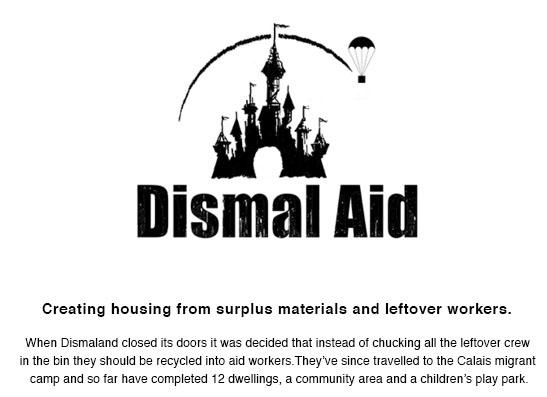 banksy, dismal aid, dismaland