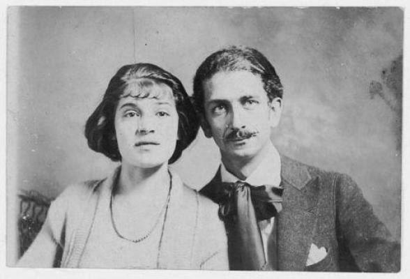 Tina e il marito Robo, 1921.